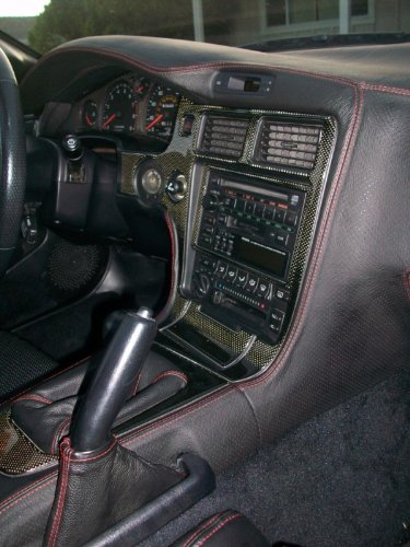 Black Leather-Red Thread RedlineGoods Manual Shift Boot Compatible with Toyota Celica 2000-06