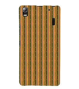 Decorative Line Pattern 3D Hard Polycarbonate Designer Back Case Cover for Lenovo K3 Note