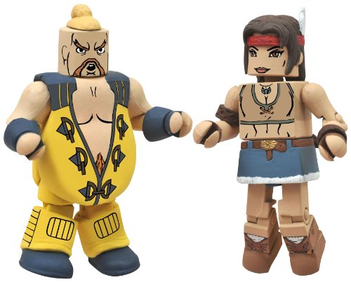 Diamond Select Toys Street Fighter X Tekken Minimates Series 2: Rufus vs Julia, 2-Pack - 1