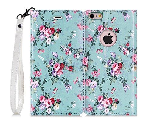 iPhone6s ケース iPhone6ケース ,Fyy® 良質PUレザーケース 横開き 手帳型 二つ折り カード収納ホルダー&ストラップ付き スタンド機能 マグネット開閉 保護カバー
