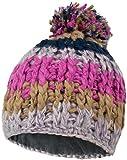Winter Strickmütze aus Handarbeit mit Bommel und Innenfleece Farbe Orthosie Größe Onesize
