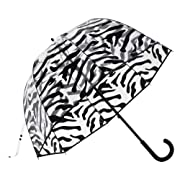 Premium Fiberglass Bubble Umbrella Color: Zebra Trim