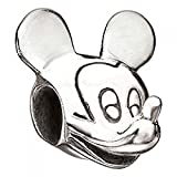Authentic Chamilia Disney Charm Mickey Mouse Head DIS-1