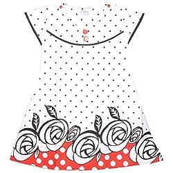 Rush Me Baby Girls' Dress (S.R.1012_6 Years, 6 Years, Red)