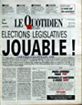QUOTIDIEN DE PARIS (LE) [No 2657] du...
