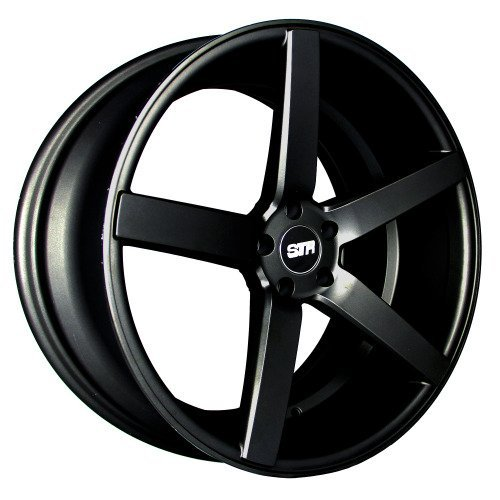 GLOSS BLACK STR 607 17X9 +15 5X114.3 RIM FIT TC XB TSX RSX MR2 CIVIC MUSTANG GT (Str Rims 17 Inch compare prices)