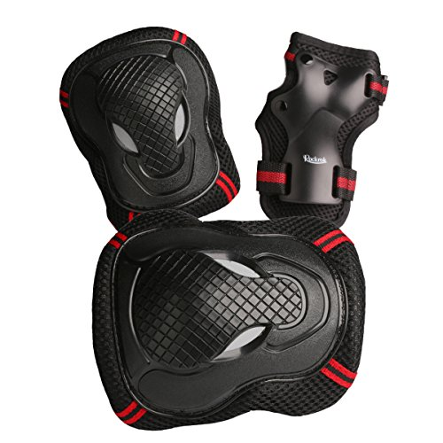 Rockrok-Protective-Gear-Set-Knee-Elbow-Pads-with-Wirst-Wraps-for-Inline-Roller-Skateboarding-BMX-Cycling-Skating-Riding-Scooters-Unisex-Outdoor-Safety-Product-6-Pieces