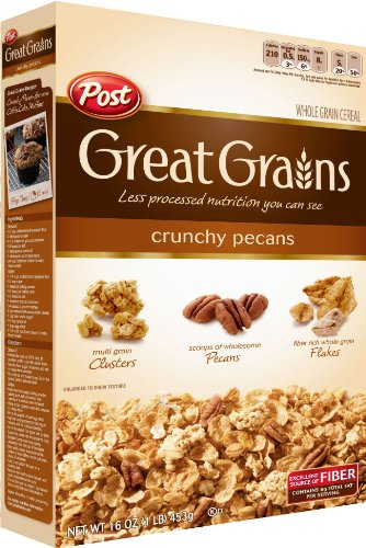 Post Great Grains Crunchy Pecan Whole Grain Cereal 16 Ounce Boxes Pack ...