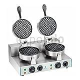 Royal Catering - RCWM-2600-R - doppeltes Waffeleisen - 2600 Watt