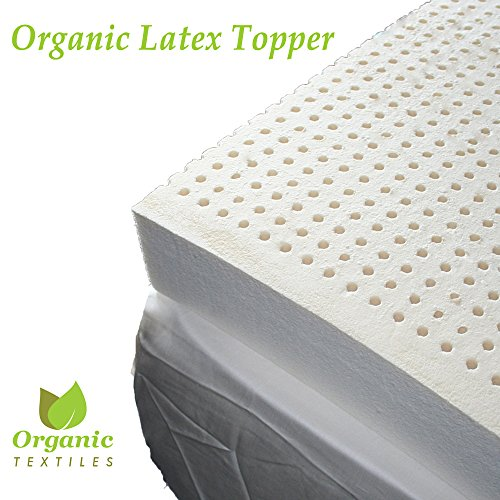100% Organic Latex Topper 2-Inch Medium For Healthy Living. Calking Size