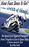 How Fast Does It Go? (the SPEED of things) - The Speed of 20 Types of Transport from Tricycles to Cars to Space Ships
