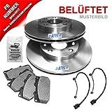 Brake Discs Vented à 323MM + Brake Pads Front Axle AUDI A8 4D2, 4D8 2.5 TDI, 2.8, 3.7, 4.2 quattro 98-02