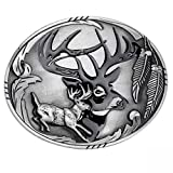 Buckle with deer, hunting, hunter, belt buckle