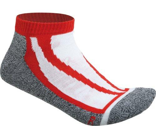 James & Nicholson - Sneaker Socks, Calze Donna, 3 Pezzi, Rosso (red), (Taglia Produttore: 39-41)