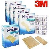 140ct 3M Nexcare Bandages + 8 Medium Adhesive Pads Fabric Comfort Latex Free
