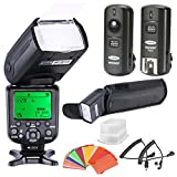 Neewer® *High Speed Sync* i-TTL Camera Master/Slave Flash Kit for Nikon D4S D4 D3S D800 D700 D80 D90 D7000 D7100 D50 D40X D60 D5000 D5100 D5200 D5300 D40 D3000 D3100 D3200 D3300 and Other Nikon DSLR Cameras, includes: (1)NW9852N-II Flash, (1)Diffuser,(1)