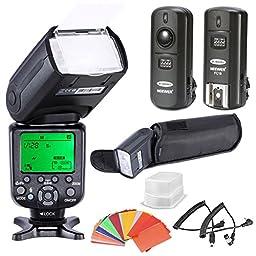 Neewer *High Speed Sync* i-TTL Camera Master/Slave Flash Kit for Nikon D4S D4 D3S D800 D700 D80 D90 D7000 D7100 D50 D40X D60 D5000 D5100 D5200 D5300 D40 D3000 D3100 D3200 D3300 and Other Nikon DSLR Cameras, includes: (1)NW982N-II Flash, (1)Diffuser,(1)3-i