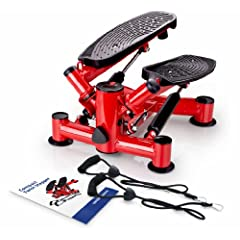 Buy Compact Twist Stepper Hydraulic Stepper Exerciser, Stepping Machine with Arm Bands and Hydraulic Resistance for... by Wellspring Products Inc