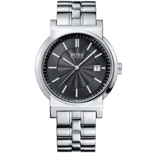 Hugo Boss 1512236 - Reloj analógico de caballero de cuarzo con correa de acero inoxidable plateada - sumergible a 30 metros