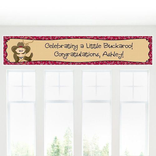 Baby Shower Banners - Little Cowboy front-704025