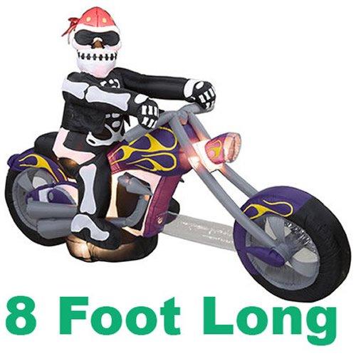 Amazon.com : Gemmy 2812630 Airblown Inflatable - Skeleton Biker, 8