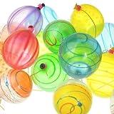 水ヨーヨー ファンタスティックヨーヨー(100入り)(30×15×4cm) 1袋  / お楽しみグッズ(紙風船)付きセット [おもちゃ&ホビー]