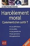 echange, troc Marie-José Gava - Harcèlement moral : Comment s'en sortir ?