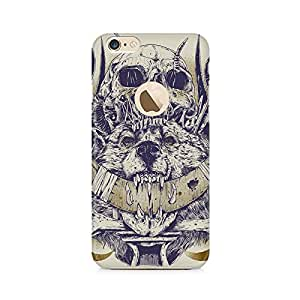 Mobicture Skull Abstract Premium Printed Case For Apple iPhone 6/6s with hole
