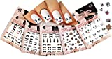 estilos mezclados 3D pegatinas de uñas de arte calcomanías, conjunto de 5 // Mixed Styles 3D Nail Art Stickers Decals, Set of 5