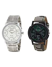 Relish Analog Round Casual Wear Watches For Men Combo - B01ANCDUJC