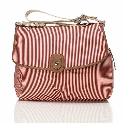Babymel Satchel, Red Stripe