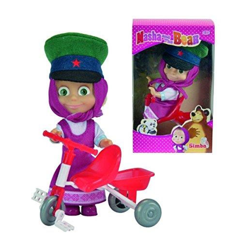 Bambola Masha e Orso con Triciclo - 12 cm - in scatola