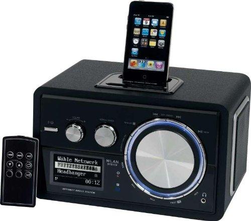 luxus w lan internet radio mit ipod docking station mit. Black Bedroom Furniture Sets. Home Design Ideas