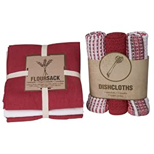 Click to buy Cool Kitchen Gadget: Now Designs Floursack Towel and Dishcloth Set of 6 from Amazon!