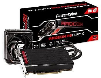 PowerColor ビデオカード AMD Radeon R9 Fury X搭載 水冷クーラー HBM ショート基板 AX R9 FURY X 4GBHBM-DH