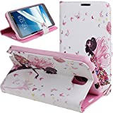 Case for Samsung Note 3,Cover for Note 3,Case for Samsung Galaxy Note 3,Wallet Case for Samsung Galaxy Note 3,NSSTAR Butterfly Fairy and Flower Inlaid Shiny Glitter Diamond Pu Leather Flip Protective Case Cover with Stand for Samsung Galaxy Note 3 (Fairy Girl)
