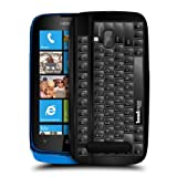 Head Case Designs PC Keyboard Keys Protective Snap-on Hard Back Case Cover for Nokia Lumia 610