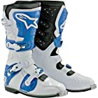 Alpinestars Tech 8 Light Boots , Distinct Name: White/Blue, Size: 10, Gender: Mens/Unisex, Primary Color: White 2011011-27-10