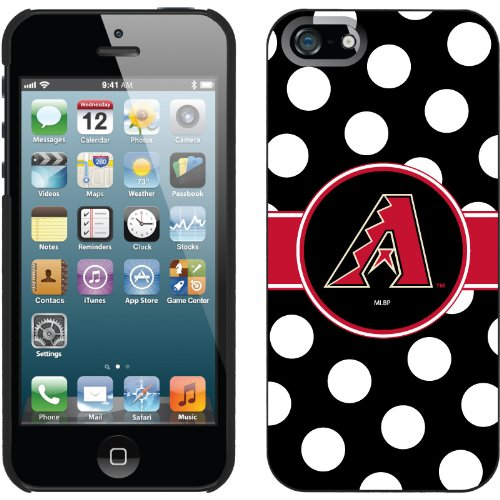 Great Sale Arizona Diamondbacks - Polka Dots design on a Black iPhone 5 Thinshield Snap-On Case by Coveroo