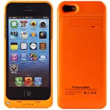 TRUSKO for Apple Iphone 5 5S 2200mAh External Rechargeable Spare Backup Extended Battery Charger Pack Case Cover for Iphone 5/5S - Orange