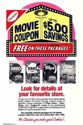 cineplex-odeon-nabisco-coupon-savings-poster-27-x-40-inches-69cm-x-102cm-1988-style-b