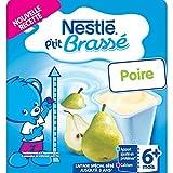Nestlé Bébé P'tit Brassé Laitage Poire dès 6 mois 4 x 100 g - (24 pots)