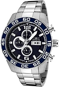 Invicta Men's 1013 II Collection Stainless Steel Dark Blue Dial Watch