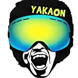 YAKAON Snowboard Skate Ski Goggles with Mirrored Detachable Dual Layer Lens and Anti-fog UV Protection Wide-angle Professional Spherical Ski Goggles
