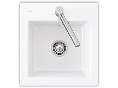 Villeroy Boch Subway &XS Alpine White Ceramic Sink Unit for Kitchen Sink Overlay -