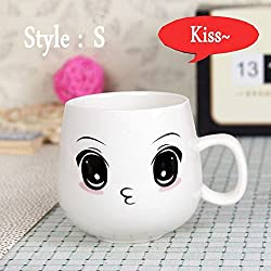 New 320ml Creative Cute Expression Ceramic Mugs Water Container Cups And Mugs Porcelain Tea Cup Coffee Mug Wholesale Style S