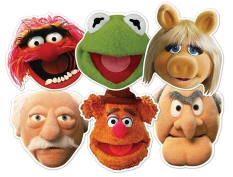Muppets Party Masks - Kermit, Animal, Miss Piggy, Fozzy, Stadtler & Waldorf