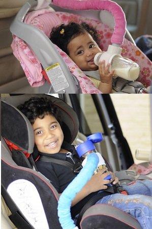Baby Bottle Holder Mothers 3Rd Arm Boy/ Girl 2 Pack (Pink) front-28695