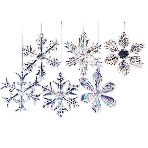 Kurt Adler Set of Snowflake Ornaments