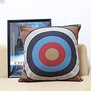 throw pillow case cushion cover square 45cm shoot the target. Black Bedroom Furniture Sets. Home Design Ideas